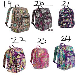 Travel lapTop cases online shopping - Cotton Flower Bag Campus Laptop Backpack School Bag Business Case Travel College real