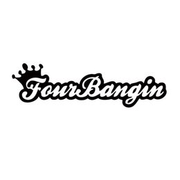 $enCountryForm.capitalKeyWord Canada - New Product For Four Bangin Crown Sticker Funny Car Styling Jdm Vinyl Decal Car Window Cool Graphics Decorate