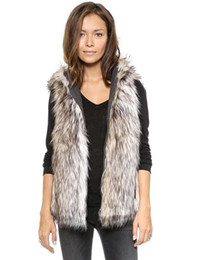 $enCountryForm.capitalKeyWord Australia - 2017 Spring Faux Fur Vest Femme Hooded Vest Outwear Short Coat Special Slim Ladies Coats Women Black&White Plus