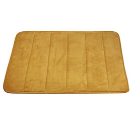 Chinese  Wholesale- Top Selling High Quality memory foam bath mat absorbent non-slip mat for Bathroom Kitchen Coral Fleece Mat manufacturers