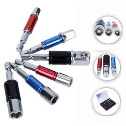 Tools Drills Adapter Canada - 6pcs Drill Adapter Magnetic Bit Screwdriver Holder Socket Set Aluminum Alloy Rod Nut Drivers Socket Drill Adapter Screwdriver Bit Set
