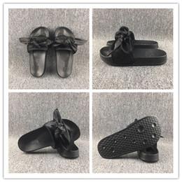 $enCountryForm.capitalKeyWord Canada - Rihanna Fenty Bow Slide Slippers Fenty Bow Slides Bandana For Women,Indoor Slides Women Slipper Onine Sale,With Box and Dust Bags