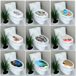 Barato Adesivos Impermeáveis ​​para Animais-Hardcover Foreign Trade Waterproof Toilet Stickers New Seat Mixed Style Decalques em parede decorativos Paste Bathroom Painting Hot Sale 2fx F R