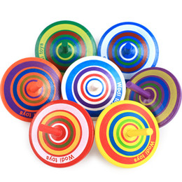 $enCountryForm.capitalKeyWord Canada - Classic Wood Gyro Toy Multicolor Mini Wooden Spinning Top Desktop Toy Hand Spinner Fidgets Learning Educational Toys for Kids