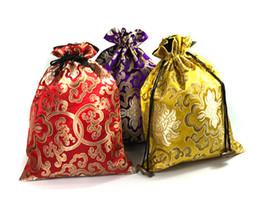 $enCountryForm.capitalKeyWord NZ - Luxury Jacquard Large Silk Brocade Pouch Drawstring Gift Packaging Bag Jewelry Crafts Bra Underwear Storage Pocket Shoe Dust Bags 3 size