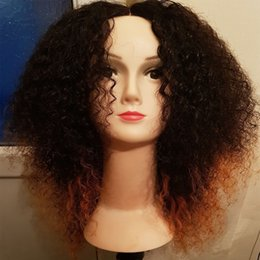 $enCountryForm.capitalKeyWord NZ - T1b 30 Ombre Lace Front Human Hair Wigs For Black Women Afro Kinky Curly Two Tone Brazilian Virgin Hair 260% High Density