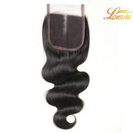 $enCountryForm.capitalKeyWord NZ - Natural Color Brazilian Hair Body Wave Lace Closures 4x4 Peruvian Malaysian Indian Body Wave 1Piece Lace Closure 100% Virgin Human hair #1B
