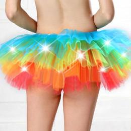 $enCountryForm.capitalKeyWord NZ - Colorful LED Adult dance Performance Skirt Tutu Skirts Up Neon Fancy Rainbow Fancy Costume light Mini Tutu Skirt Q0114