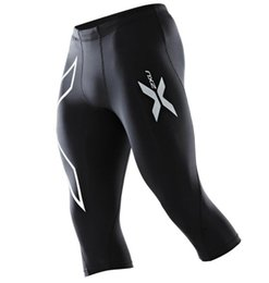 online shopping Hot Sale Brand Men s Compression Tights Pants all sizes Black Silver joggers Exercise New