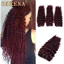 $enCountryForm.capitalKeyWord Australia - Burgundy Brazilian Hair Weave 3 Bundles Grade 9A #99j Red Wine Deep Curly Wave Human Hair Extensions 3Pcs Lot Human Hair Weave