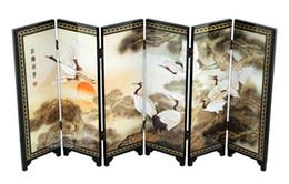 Опт Китайский лак картина красивый складной шаблон Songhe экран