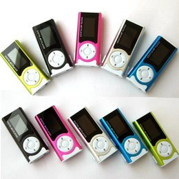watch sd mp3 player 2019 - Wholesale- Portable Shiny Mini USB Clip LCD Screen MP3 Media Player Support 16GB Micro SD Card Sports MP3 Music Player M