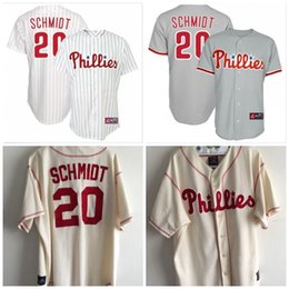fcf2cde8f ... Mens 20 Mike Schmidt Jerseys Philadelphia Phillies Home Sewn  Cooperstown Throwback Baseball Jersey Cheap Free shipping ...