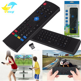 2,4G Fernbedienung MX3 Air Mouse Wireless Mini Tastatur mit IR Lernmodus Smart Fernbedienung Tastatur für Android TV Box on Sale