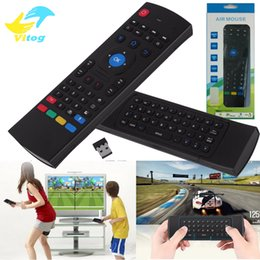 Mx3 Android Smart Tv Box Canada - 2.4G Remote Control MX3 Air Mouse Wireless Mini Keyboard With IR Learning Mode smart Remote Control Keyboard for Android TV Box