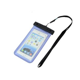 Diving Pouch UK - Wholesale Waterproof case bag PVC Protective universal Phone Bag Pouch With Compass Bags For Diving Swimming For smart phone up to 5.8 inch