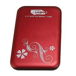 "Discount hard disk usb - Wholesale- PROMOTION! 2.5"" Flower External Hard Drive Disk USB 3.0 SATA HDD Case Box Enclosure Red"