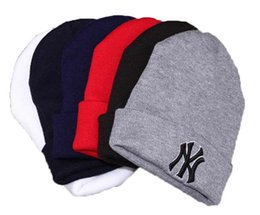 Wholesale 5 pcs Unisex Adult Knitted Beanie Hat Letters Embroidered Design For Winter Warm Fashion Outdoor Skiing Caps Free Shipping from wholesale bulbs for sale suppliers
