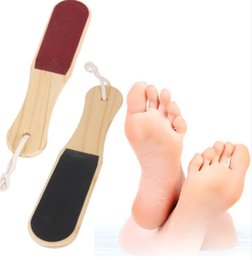 Wholesale Double sided Foot File Pedicure Tool Feet Dead Skin Coarse Callus Remover Foot Care Wood Double sided Foot File Pedicure Tool