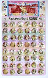 Discount plastic swings - New! Popular 48pcs Eiffel Tower badge diameter 3cm pin charm full swing kids party best gift free shipping