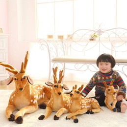 Staffed Toy Canada - Wholesale-1 pc 30-50cm Simulation Deer Plush Toy Staffed Sika Deer Toy for Kids Baby Doll Children's Birthday Gift