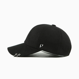 Wholesale- 2017 Brand New Peaceminusone Gd Unisex Ring Curved Hats Baseball  Cap Men Women Snapback Caps Fashion Baseball Cap with Rings b8d9b9143f15