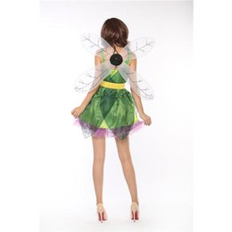 Costume De Lycra Sexy Pas Cher-New Woodland Fairy Costume Fashion Sexy Women femme fille cosplay Halloween Carnival scène costume Fairy Tales