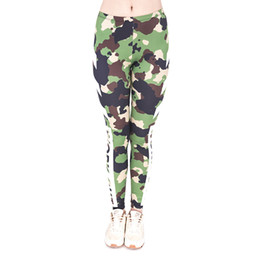f14287a4d2a Women Leggings Workout Camo Camouflage 3D Graphic Print Lady Capris Soft Yoga  Pants Girl Pencil Fit Runner Casual Jeggings Trousers (J44830)