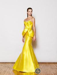 $enCountryForm.capitalKeyWord NZ - Color Assented Bright Yellow Prom Dresses simple Elegant mermaid evening formal gowns custom made backless JA10