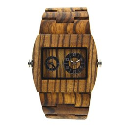 $enCountryForm.capitalKeyWord UK - Bewell Rectangle Dial Men's Wood Watch Multiple Time Zones Wooden Wrist Watches