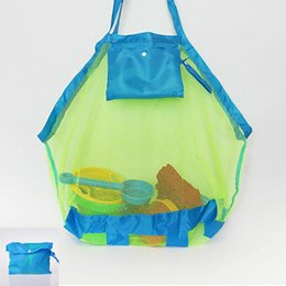 wholesale high end beach mesh bags sand away collection toy bag for sea shell collection toy bag kids children tote organizer storage bags
