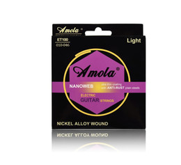 coated guitar strings 2019 - Amola ET100 010-046 Bright Tone Round Wound Ulra Thin Coating Nickel Plating Winding Electric Guitar Strings 3SET