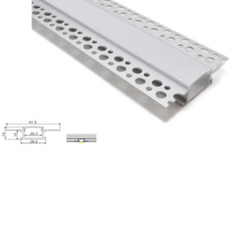 Wholesale 10 X 1M sets lot anodized flat led strip aluminum channel and led T channel for recessed wall or ceiling lamps