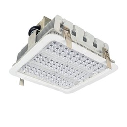 Light radiators online shopping - Explosion proof LED canopy lights finned radiator W W W high bay light for GAS Station light warehouse lamp Meanwell year warranty