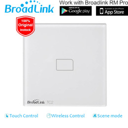 Switch Control Wall Canada - Wholesale-Broadlink TC2 1 Gang EU UK Standard Smart Home Automation Wifi Remote Control Touch Screen Wall Light Switch Support iOS Android