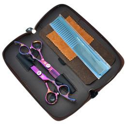 $enCountryForm.capitalKeyWord Canada - 6.0Inch 2017 Purple Dragon New Arrival Hair Scissors Kit Cutting & Thinning Hair Shears Hairdressing Scissors Set Free Shipping, LZS0287