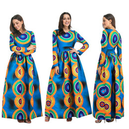 Chinese  2018 Dashiki African Dresses For Women Top Bazin African Traditional Private Custom Clothes One Piece Half Sleeve Loose Dress manufacturers