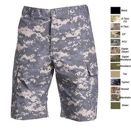 Venta al por mayor de Al aire libre, arbolado, caza, tiro, batalla, uniforme de vestir, táctico BDU, ropa de combate, pantalones de secado rápido, pantalones cortos de camuflaje, SO05-106