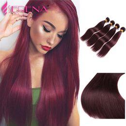 Discount rosa peruvian hair - rosa hair beauty sexy malaysian straight virgin hair 4 bundles 99j malaysian straight human hair weaving 8''-3