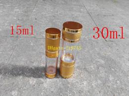 $enCountryForm.capitalKeyWord Canada - 100pcs lot 15ML & 30ML Secant Vacuum spray bottle Airless Pump cosmetics perfume bottle jar Sample Anodized aluminum sand