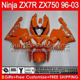 1999 Kawasaki Zx7r Canada - 8Gifts 23Colors For KAWASAKI NINJA ZX7R 96 97 98 99 00 01 02 03 18HM12 gloss Orange ZX750 ZX 7R ZX-7R 1996 1997 1998 1999 2000 2003 Fairing