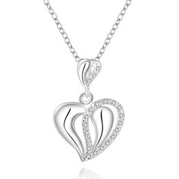 Best Wedding Pendant Australia - best gift Heart sterling silver plated jewelry Necklace for women DN609,wedding 925 silver Pendant Necklaces with chain