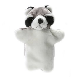 cute puppets Australia - Cute plush toy Tanuki Hand Puppet Baby Kids Developmental Plush Doll Game Playing Toy School Art Performance Toys