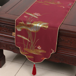 Discount Coffee Table Sizes High End Classic Lotus Luxury Table Runner  Multi Size Length Decorative Dining