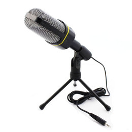 Wholesale Professional Condenser Home Audio Studio Sound Recording Microphone 3.5mm Jack MIC Shock Mount for Skype Desktop PC Notebook Computer