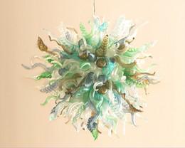 $enCountryForm.capitalKeyWord Australia - Latest Style Round Chandelier 1 MOQ Cheap Amazing Modern Blown Colored Glass 110v-240v LED Kitchen Ceiling