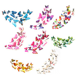$enCountryForm.capitalKeyWord UK - 12 pcs 3D Butterfly Wall Stickers Home DIY Decor Wall Decals For Living Room, Bedroom, Kids Room