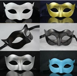 mens face masks NZ - Mens Mask Halloween Masquerade Masks Mardi Gras Venetian Dance Party Face The Mask Mixed Color