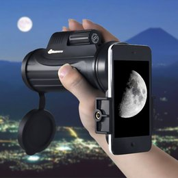telescope view UK - Freeshipping VDA 12x42 Monocle Observation Large Field of View + Waterproof Telescope+(mobile phone adapter)