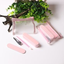 $enCountryForm.capitalKeyWord NZ - 4Pcs Salon Nail Care Set Personal Pedicure Manicure Beauty Set Nail Art Tools Emery Board File Buffer Cuticle Pusher Nail Cutter Clipper